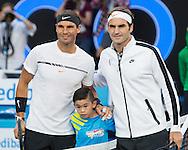 ROGER FEDERER und RAFAEL NADAL,Herren Finale<br /> <br /> Australian Open 2017 -  Melbourne  Park - Melbourne - Victoria - Australia  - 29/01/2017.