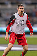 Liverpool midfielder James Milner  during the Barclays Premier League match between Newcastle United and Liverpool at St. James's Park, Newcastle, England on 6 December 2015. Photo by Simon Davies.