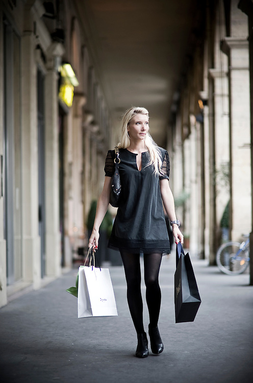 "Sophie Reisinger is a ""personal shopper"", her work consist to advice people how to shop. Paris, France."