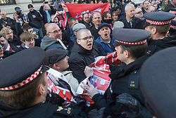 Supporters of the murdered soldier Lee Rigby outside the The Old Bailey, during the sentencing of his killers. London, United Kingdom. Wednesday, 26th February 2014.  Picture by i-Images