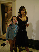 Sophie Hunter and Lily Hunter, private view for Continuum by Conrad Shawcross. Queen's House. National Maritime Museum. Greenwich. 17 December 2004. ONE TIME USE ONLY - DO NOT ARCHIVE  © Copyright Photograph by Dafydd Jones 66 Stockwell Park Rd. London SW9 0DA Tel 020 7733 0108 www.dafjones.com