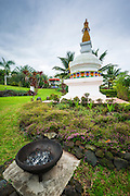 Kalachakra Stupa (Buddhist) shrine, Paleaku Gardens Peace Sanctuary, Kona Coast, The Big Island, Hawaii USA