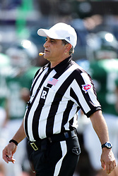 19 September 2015:  Referee Dave Wallace during an NCAA division 3 football game between the Simpson College Storm and the Illinois Wesleyan Titans in Tucci Stadium on Wilder Field, Bloomington IL