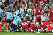 Scrum. Queensland Reds v NSW Waratahs. Investec Super Rugby Round 10 Match, 24 April 2011. Suncorp Stadium, Brisbane, Australia. Reds won 19-15. Photo: Clay Cross / photosport.co.nz
