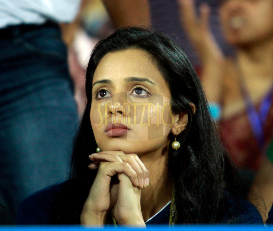 Co Owner of Deccan Chargers Gayatri Reddy during match 9 of the Indian Premier League ( IPL) 2012  between The Deccan Chargers and the Mmbai Indians held at the ACA-VDCA Stadium, Visakhapatnam the 9th April 2012..Photo by Sandeep Shetty/IPL/SPORTZPICS