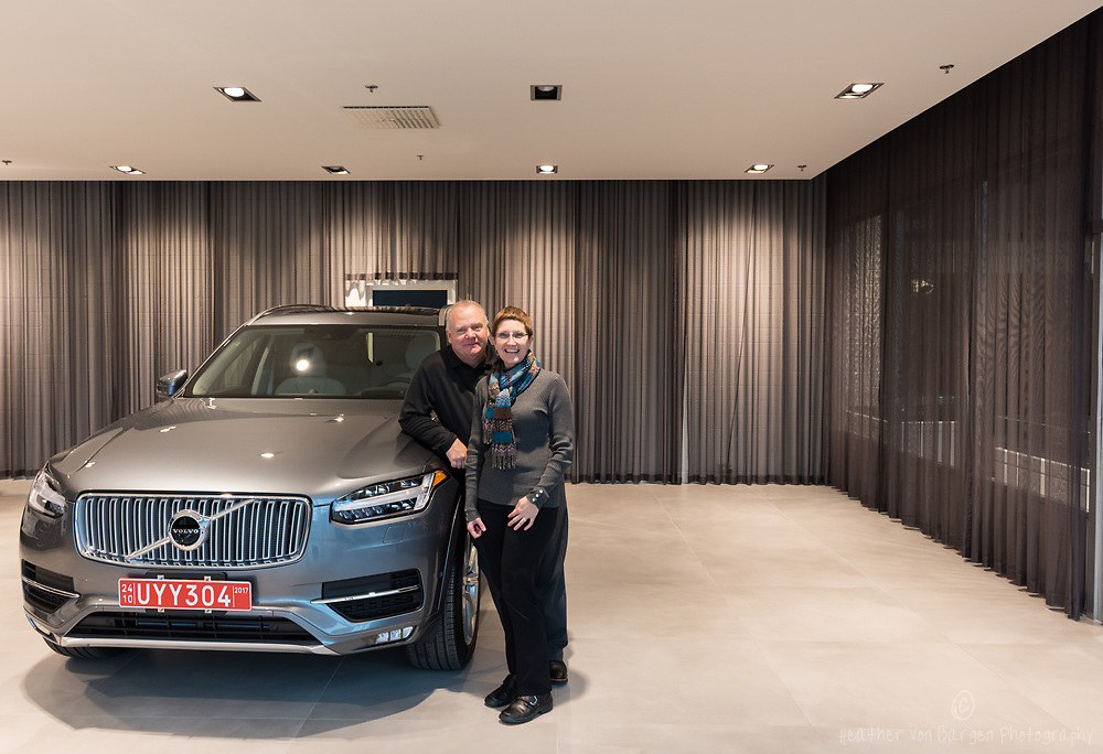 Matt and I with our XC90