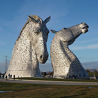 work has started on  a new visitor centre for the Kelpies , Helix Park, Grangemouth. &nbsp;The new &pound;1.45m visitor centre will feature &nbsp;a restaurant, retail area, visitor information and facilities and an audio-visual experience. At the moment the only income the Park generates is from guided tours including a look inside the Kelpies .&nbsp;<br /> &nbsp;The Kelpie horse-head sculptures are the the UK's biggest pieces of public art.The &pound;43m Helix parkland project has already won number of awards .&nbsp;<br /> The project, on &nbsp;land between Falkirk and Grangemouth, created a large new public green space, a kilometre of new canal and towpaths, a lagoon and a 16-mile (26km) cycle route around the area.<br /> The project has been a huge success with about 800,000 &nbsp;visitors to the site since the Kelpies were launched in April.