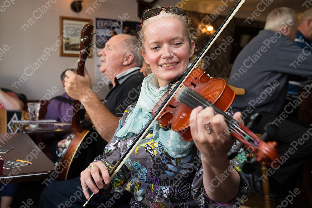 Geraldine White playing in a session during the Willie Clancy Festival