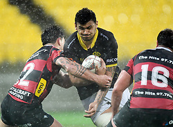 Wellington's Walker-Leawere attempts to break the defence against Canterbury in the Mitre 10 Rugby match at Westpac Stadium, Wellington, New Zealand, Sunday September 17,, 2017. Credit:SNPA / Ross Setford  **NO ARCHIVING**