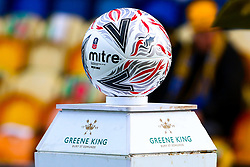 An Emirates FA Cup Mitre match ball - Mandatory by-line: Ryan Crockett/JMP - 11/11/2018 - FOOTBALL - One Call Stadium - Mansfield, England - Mansfield Town v Charlton Athletic - Emirates FA Cup first round proper