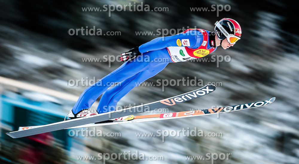 16.12.2016, Nordische Arena, Ramsau, AUT, FIS Weltcup Nordische Kombination, Skisprung, im Bild David Pommer (AUT) // David Pommer of Austria during Skijumping Competition of FIS Nordic Combined World Cup, at the Nordic Arena in Ramsau, Austria on 2016/12/16. EXPA Pictures © 2016, PhotoCredit: EXPA/ JFK