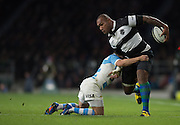 Twickenham, United Kingdom,Nemani NADOLO. attacking on the wing during the  Killik Cup Match, Barbarians vs Argentina, RFU Stadium, Twickenham, England,<br /> <br /> Saturday    21/11/2015  <br /> <br /> [Mandatory Credit; Peter Spurrier/Intersport-images]