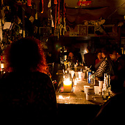 Most bars were open Tuesday night as some of the pitch-black streets of the East Village sounded like one big party