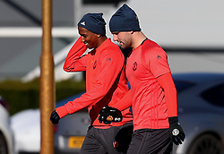 Ashley Young and Luke Shaw of Manchester United  - Mandatory by-line: Matt McNulty/JMP - 19/10/2016 - FOOTBALL - Manchester United - Training session ahead of Europa League game against Fenerbahce