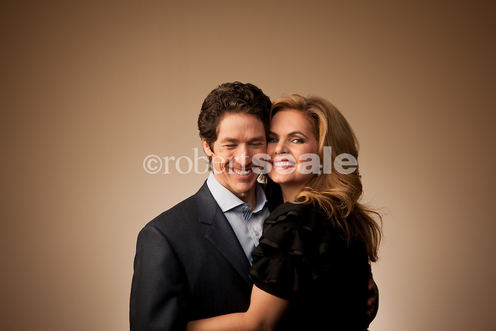 Joel and Victoria Osteen, co-pastors of Lakewood Church in Houston, Texas on Jan. 24, 2012.   © 2011 Robert Seale