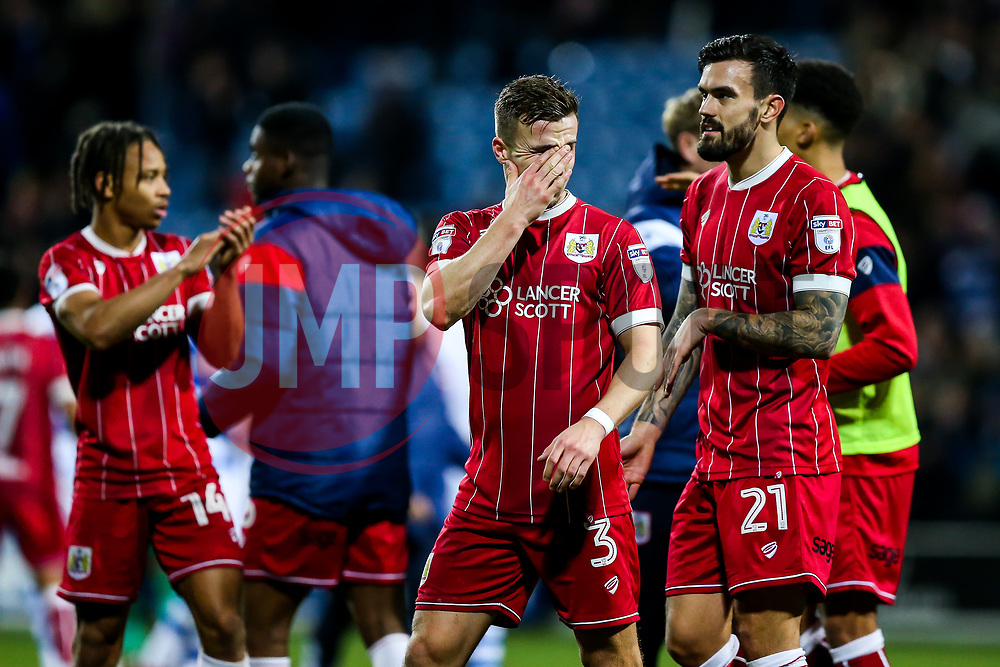 Joe Bryan of Bristol City looks frustrated after the game ends in a 1-1 draw - Rogan/JMP - 23/12/2017 - Loftus Road - London, England - Queens Park Rangers v Bristol City - Sky Bet Championship.