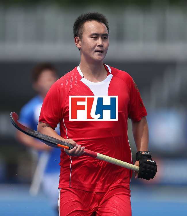 LONDON, ENGLAND - JUNE 17:  Wei Wo of China during the Hero Hockey World League semi final match between China and Korea at Lee Valley Hockey and Tennis Centre on June 17, 2017 in London, England.  (Photo by Alex Morton/Getty Images)