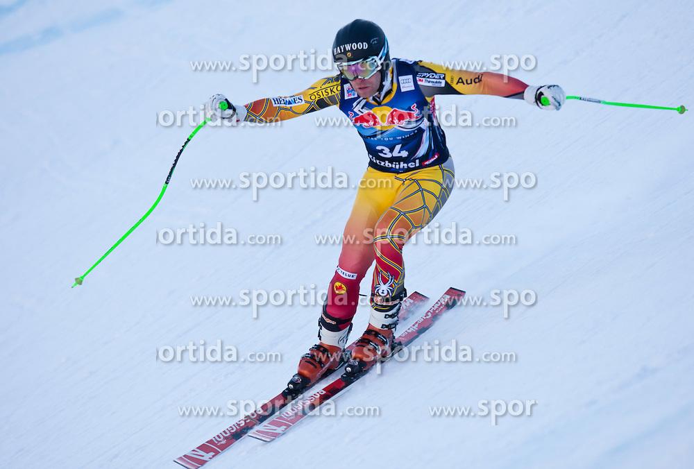 18.01.2012, Hahnenkamm, Kitzbuehel, AUT, FIS Weltcup Ski Alpin, 72. Hahnenkammrennen, Herren, Abfahrt 2. Training, im Bild Robbie Dixon (CAN) // Robbie Dixon of Canada during Downhill 2nd practice of 72th Hahnenkammrace of FIS Ski Alpine World Cup at 'Streif' course in Kitzbuhel, Austria on 2012/01/18. EXPA Pictures © 2012, PhotoCredit: EXPA/ Johann Groder