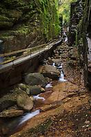 Flume Gorge trail Franconia Notch New Hampshire