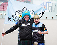 Glasgow Warriors fans<br /> <br /> Photographer Simon King/Replay Images<br /> <br /> Guinness PRO14 Round 19 - Scarlets v Glasgow Warriors - Saturday 7th April 2018 - Parc Y Scarlets - Llanelli<br /> <br /> World Copyright © Replay Images . All rights reserved. info@replayimages.co.uk - http://replayimages.co.uk