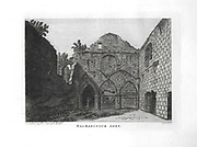 Engravings of Scottish landscapes and buildings from late eighteenth and early nineteenth century, Balmarinock Abbey, Scotland, UK