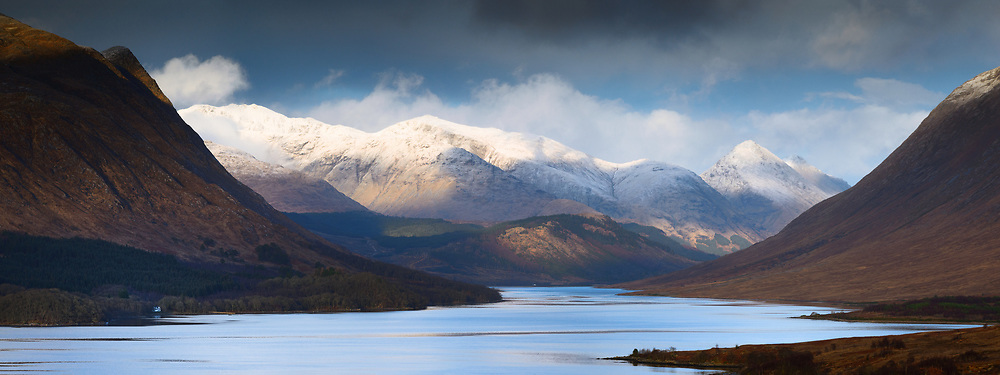 A three frame pano stitch was required here, I think the view of the northern end of Loch Etive between Beinn Trilleachan and Ben Starav can only be properly captured in this format. It was wonderful to watch the last of the days light play across the hills in the distance from Bidean nam Bian to Stob nan Cabar. Such moments fills me with joy and appreciation of our bonnie landscapes.