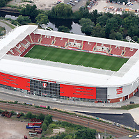 Aerial Image of Rotherham United Ground, AESSEAL New York Stadium Rotherham <br /> <br /> Picture : Alex Roebuck / www.alexroebuck.co.uk