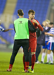 READING, ENGLAND - Wednesday, March 12, 2014: Liverpool's Joe Maguire looks dejected after losing 5-4 on penalties after a 4-4 draw against Reading during the FA Youth Cup Quarter-Final match at the Madejski Stadium. (Pic by David Rawcliffe/Propaganda)