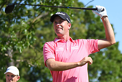 May 2, 2019 - Charlotte, NC, U.S. - CHARLOTTE, NC - MAY 02: Webb Simpson during the first round of the Wells Fargo Championship at Quail Hollow on May 2, 2019 in Charlotte, NC. (Photo by William Howard/Icon Sportswire) (Credit Image: © William Howard/Icon SMI via ZUMA Press)