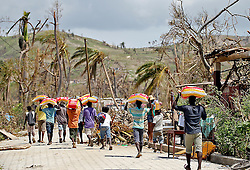 Locals near Port Salut, Haiti, on October 9, 2016. Photo by Patrick Farrell/Miami Herald/TNS/ABACAPRESS.COM