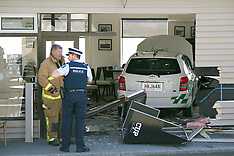 Christchurch-Taxi drives into cafe for takeaway coffee