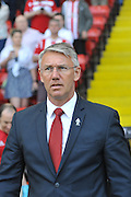 Sheffield United  Manager Nigel Adkins during the Sky Bet League 1 match between Sheffield Utd and Scunthorpe United at Bramall Lane, Sheffield, England on 8 May 2016. Photo by Ian Lyall.