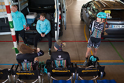Drops Cycling Team riders prepare for Stage 3 of the Emakumeen Bira - a 77.6 km road race, starting and finishing in Antzuola on May 19, 2017, in Basque Country, Spain. (Photo by Balint Hamvas/Velofocus)