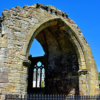 Blackfriars Chapel in St Andrews, Scotland<br /> The first Dominican friars in St Andrews built a modest monastery, called a prior, in 1464. By the early 16th century, it grew into a friary complete with a hospital, church, chapter house and dormitory. This chapel, which is all that remains, was constructed in the 1520s.  In 1546, Protestant George Wishart was burned at the stake for heresy. In retaliation, the Protestants murdered Cardinal David Beaton, hung his body from the St Andrew Castle and then attacked this Catholic friary. Most of the buildings were destroyed and finally vacated in 1559.