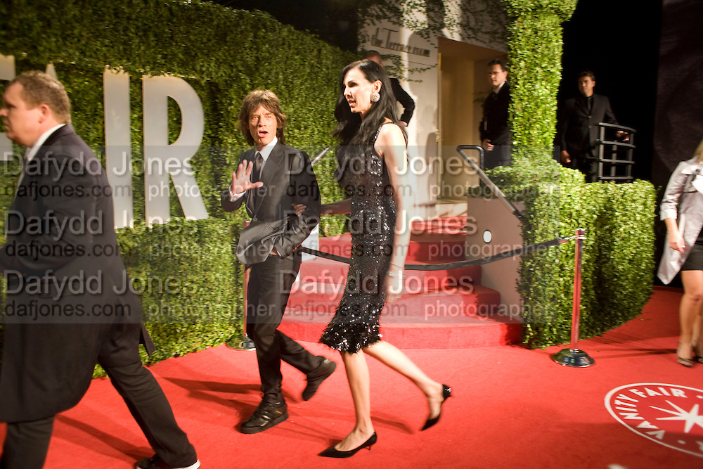 MICK JAGGER; L'WREN SCOTT, Vanity Fair Oscar night party hosted by Graydon Carter.  Sunset  Tower Hotel, West Hollywood. 22 February 2009.