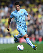 Picture by Andrew Timms/Focus Images Ltd. 07917 236526.14/04/12.Sergio Aguero of Manchester City during the Barclays Premier League match against Norwich City at Carrow Road stadium, Norwich.
