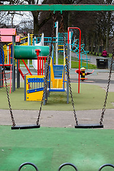 Hillsborough Sheffield  28th March 2020 Hillsborough play area closed after emergency measures to combat Covid-19 were announced by Prime minister Boris Johnson on Monday evening 23rd march<br />
