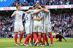 England's Jamie Vardy celebrates after scoring his sides second goal  - Mandatory byline: Matt McNulty/JMP - 07966386802 - 22/05/2016 - FOOTBALL - Etihad Stadium -Manchester,England - England v Turkey - International Friendly