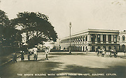 Old Postcards of Ceylon. The Senate Building with Queens House on Left. Colombo.