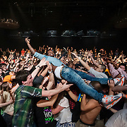 March 28, 2012 - New York, NY : British dubstep music producer / DJ Benga crowd surfs amidst the fans at the Best Buy Theater in Manhattan on Wednesday evening. CREDIT: Karsten Moran for The New York Times