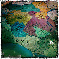 25 February 2012: Sonoma Map detail.  iPhone Stock Photo