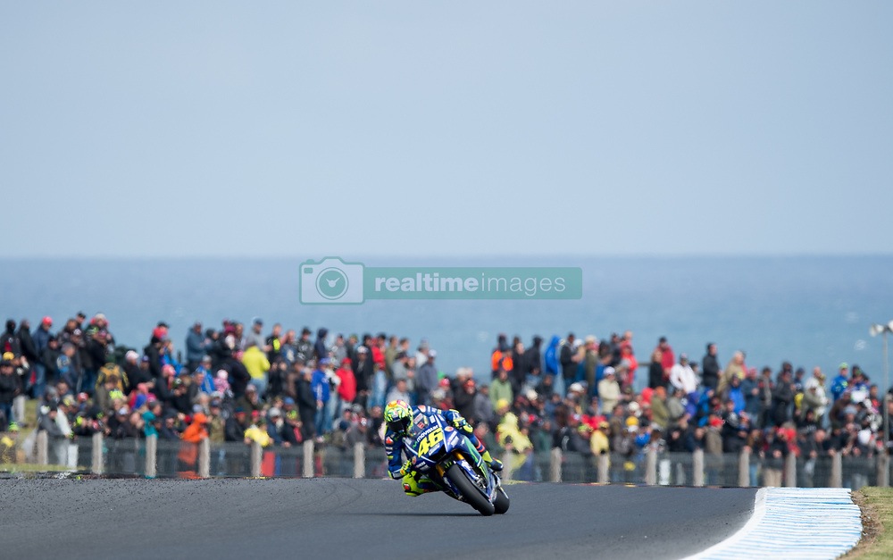 October 21, 2017 - Melbourne, Victoria, Australia - Italian rider Valentino Rossi (#46) of Movistar Yamaha MotoGP in action during the first qualifying practice session at the 2017 Australian MotoGP at Phillip Island, Australia. (Credit Image: © Theo Karanikos via ZUMA Wire)