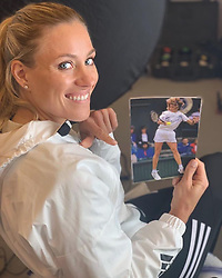 """Angelique Kerber releases a photo on Instagram with the following caption: """"Proud to take part in a documentary about my childhood idol Steffi Graf ...speaking about her legacy, graceful personality, legendary inside-out forehand and the inspiration she has been to my career... \ud83d\ude4c\ud83c\udffb\ud83d\ude09\ud83c\udfa5"""". Photo Credit: Instagram *** No USA Distribution *** For Editorial Use Only *** Not to be Published in Books or Photo Books ***  Please note: Fees charged by the agency are for the agency's services only, and do not, nor are they intended to, convey to the user any ownership of Copyright or License in the material. The agency does not claim any ownership including but not limited to Copyright or License in the attached material. By publishing this material you expressly agree to indemnify and to hold the agency and its directors, shareholders and employees harmless from any loss, claims, damages, demands, expenses (including legal fees), or any causes of action or allegation against the agency arising out of or connected in any way with publication of the material."""