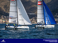 Genoa, Italy is hosting sailors for the third regatta of the 2019 Hempel World Cup Series from 15-21 April 2019. More than 700 competitors from 60 nations are racing across eight Olympic Events.&copy;JESUS RENEDO/SAILING ENERGY/WORLD SAILING<br /> 19 April, 2019.