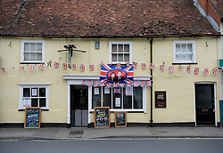 LOCATION, UK  29/04/2011. The Royal Wedding of HRH Prince William to Kate Middleton. .The community in Wilton, Wiltshire came together today in The Bear pub to commemorate the Royal Wedding of HRH Prince William to Kate Middleton. ..Photo credit should read Ian Forsyth/LNP.