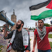 Protest by the Palestinian community in Kansas City concerning the Israeli raid of the Gaza Flotilla shipments in the Mediterranean Sea.