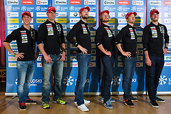 Biathlon team during Media day of Ski Association of Slovenia before new winter season 2014/15 on October 20, 2014 in Hisa Kulinarike Jezersek, Sora, Slovenia. (Photo by Matic Klansek Velej / Sportida)