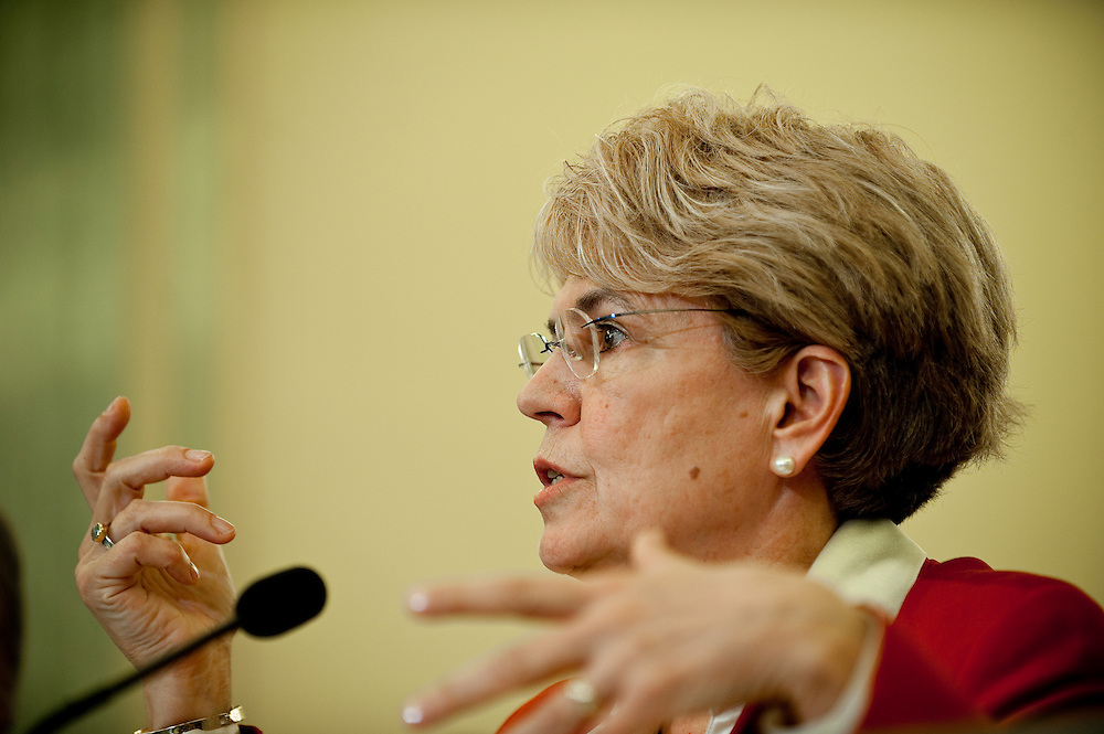 May 18,2010 - Washington, District of Columbia USA -  Jane Lubchenco, administrator of the National Oceanic and Atmospheric Administration appears before the Senate Commerce, Science and Transportation Committee for a hearing on the response to the accident involving the Deepwater Horizon in the Gulf of Mexico.(Credit Image: © Pete Marovich/ZUMA Press)