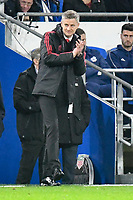 Football - 2018 / 2019 Premier League - Cardiff City vs. Manchester United<br /> <br /> Manchester Utd caretaker manager Ole Gunnar Solskjaer in his 1st game in charge celebrates his team's 3rd goal , at Cardiff City Stadium.<br /> <br /> COLORSPORT/WINSTON BYNORTH