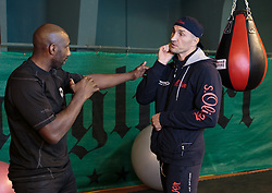10.11.2015, Stanglwirt, Going, AUT, Wladimir Klitschko, Training, Kampfvorbereitung gegen Tyson Fury (GBR), im Bild v.l. Johnny Nelson, Wladimir Klitschko // Wladimir Klitschko ( L ) Johnny Nelson ( R ) during a training session in front of his Fight against Tyson Fury (GBR) at the Stanglwirt in Going, Austria on 2015/11/10. EXPA Pictures © 2015, PhotoCredit: EXPA/ Johann Groder